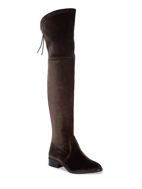 Long Velvet Adjustable Boots