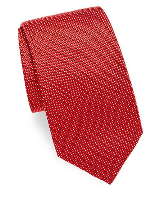 Pin Dot Silk Tie