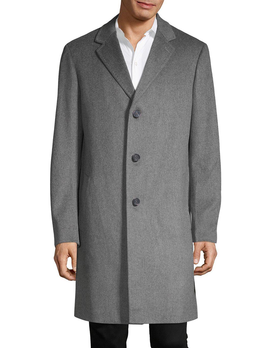 Saks Fifth Avenue Long Wool Coat