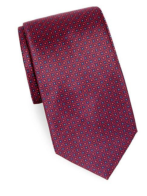 Printed Pattern Silk Tie