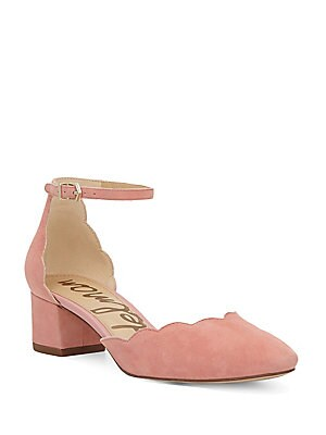 e3f8e7d30e70 Sam Edelman - Lara Suede Scalloped Pump - saksoff5th.com