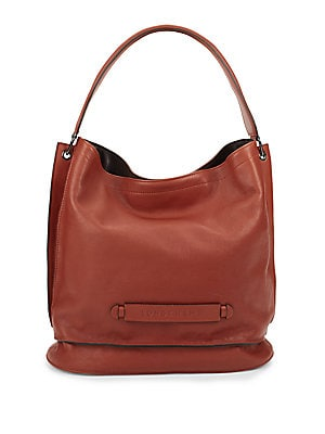 Top Snap Leather Handbag