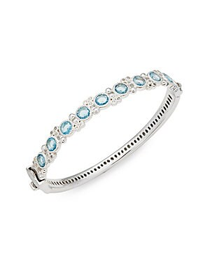 Jude Frances  ENCORE STERLING SILVER PROVENCE ROUND STONE BANGLE