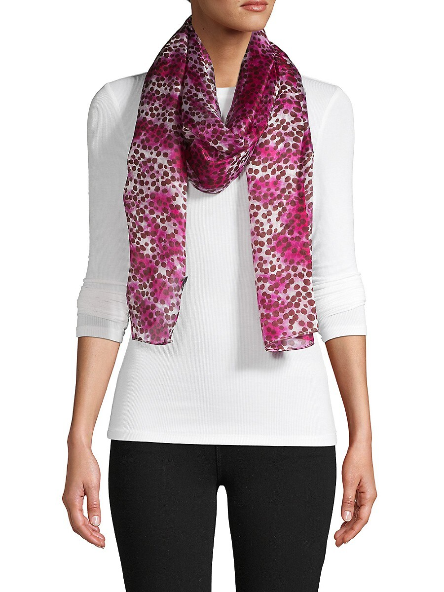 Women's Dotted Silk Scarf