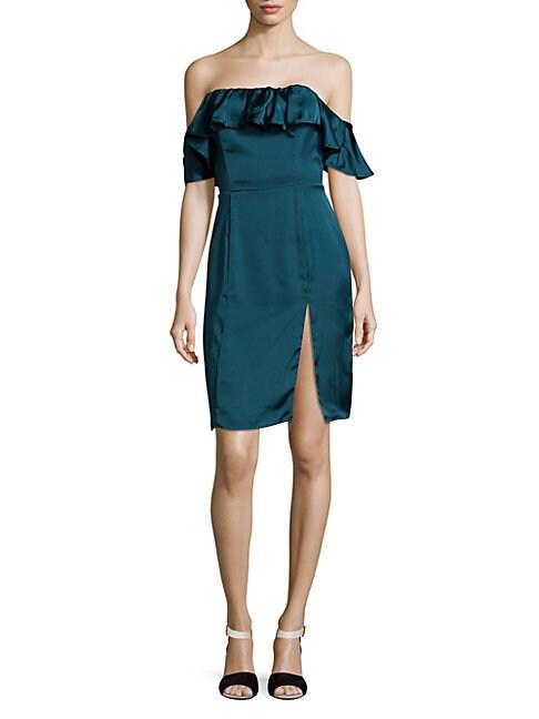 Spade Ruffled Off-The-Shoulder Dress