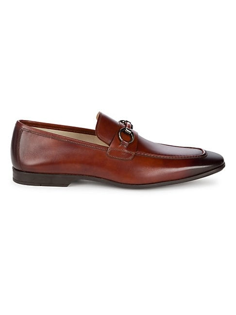 SAKS FIFTH AVENUE | Saks Fifth Avenue COLLECTION BY MAGNANNI Leather Loafers | Goxip
