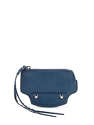 Azure Leather Coin Purse