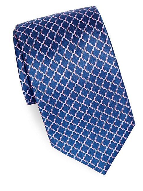 Criss Cross Silk Tie