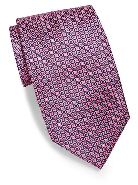 Print Medallion Silk Tie
