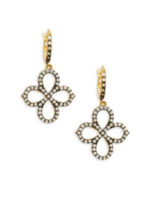 Freida Rothman  Pointed Clover Drop Earrings