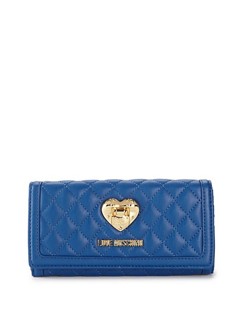Flap Faux Leather Continental Wallet