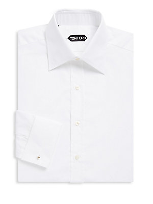Tom Ford Cottons Pointed Cotton Dress Shirt