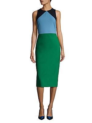 Sleeveless Tailored Wool Blend Dress