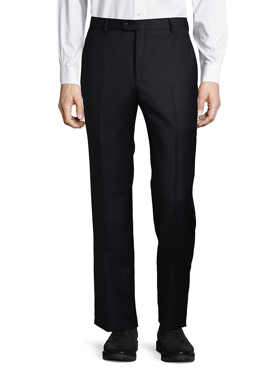 Men's Dark Wool Dress Pants