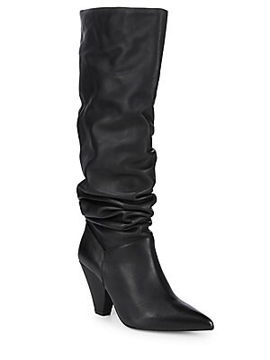 Point Toe Leather Knee High Boots by Saks Fifth Avenue