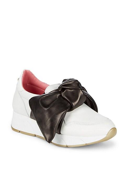 BLUMARINE | Slip-On Bow Sneakers | Goxip