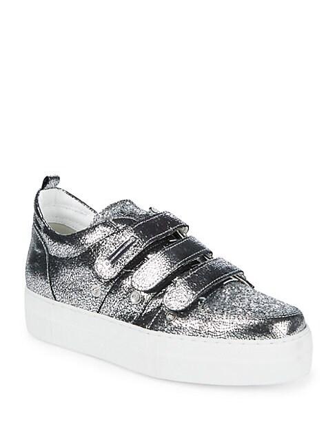 ALESSANDRO DELL'ACQUA   Metallic Low Top Sneakers   Goxip