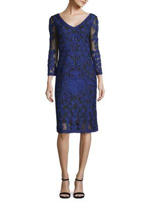 Js Collections  Soutache Shift Lace Dress