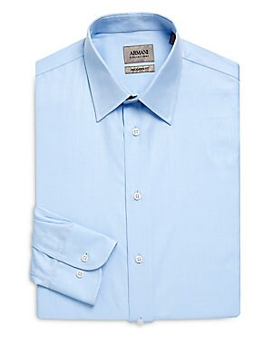 Modern Fit Solid Cotton Dress Shirt