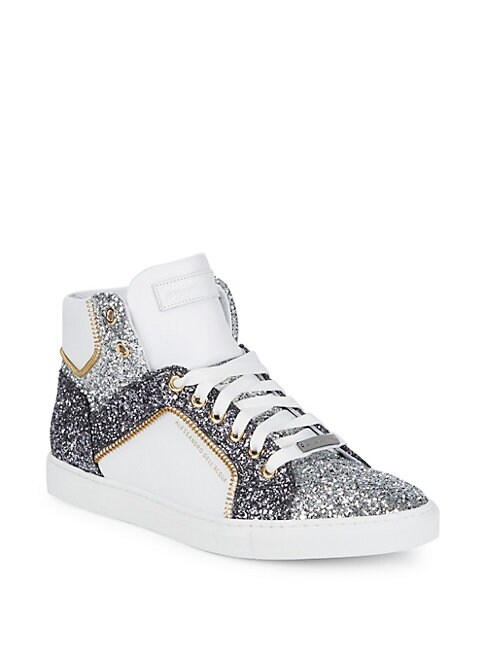 Sequin High-Top Sneakers