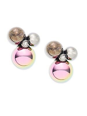 Rainbow Rocks Crystal Stud Earrings