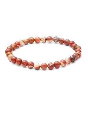 Saks Fifth Avenue  Red Jasper Beaded Bracelet