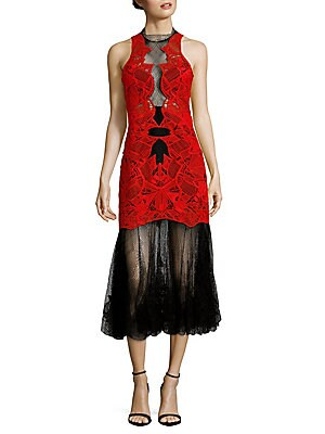Two-Tone Lace Gown
