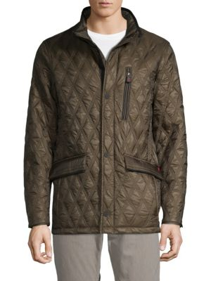 RAINFOREST Heat System Quilted Long Sleeve Jacket in Tarmac