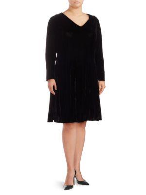 Alexia Admor Plus Velvet Fit-&-Flare Dress