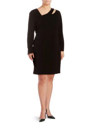 Alexia Admor Plus Long Sleeve Cut-Out Sheath Dress