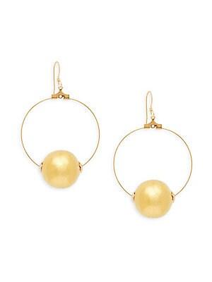 Faux Pearl Satin Dangle & Drop Earrings