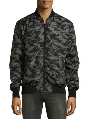 SOVEREIGN CODE Camouflage Bomber Jacket in Dark Camo