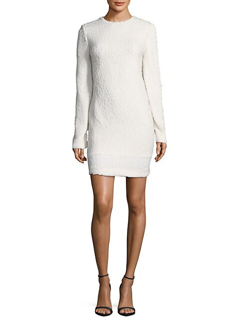 Frizzy Crewneck Sweater Dress