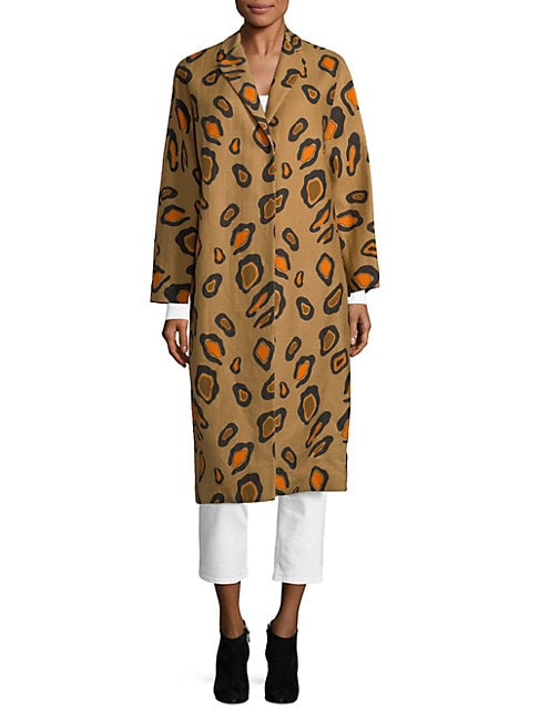 Animal-Print Coat