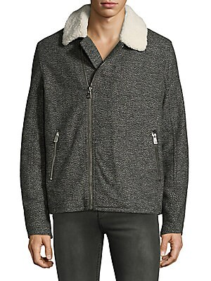 Faux Shearling Trimmed Jacket