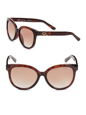 O BY OSCAR DE LA RENTA 54Mm Cat-Eye Sunglasses in Tortoise
