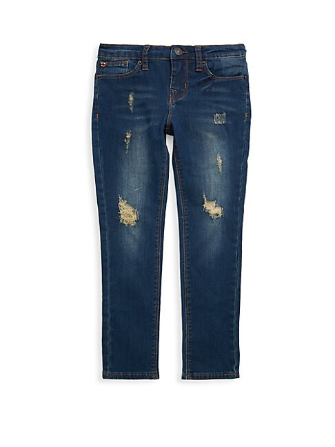Little Girl's Dolly Skinny Ripped Jeans