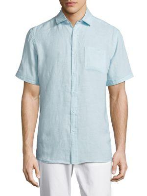 Saks Fifth Avenue  Short Sleeve Linen Shirt