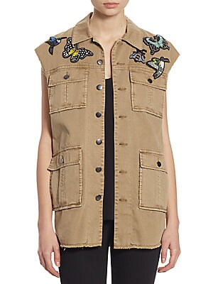 Canyon Butterfly Patch Cotton Vest