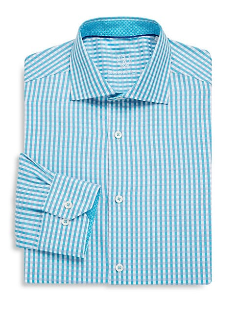 Checkered Cotton Dress Shirt