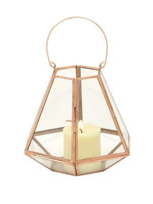 UMA Modern Hexagonal Candle Lantern in Gold