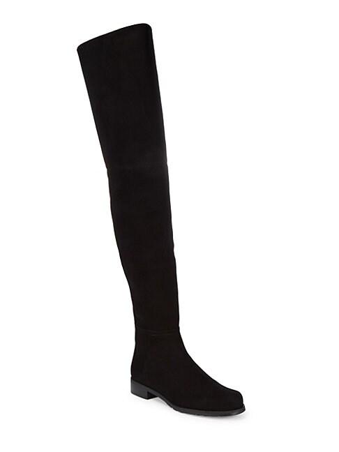 STUART WEITZMAN | Suede Knee-High Boots | Goxip