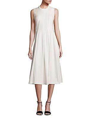 Cotton Sleeveless Peplum Dress