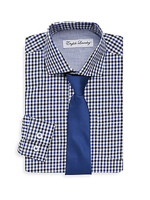 Little Boy's Small Checkered Dress Shirt