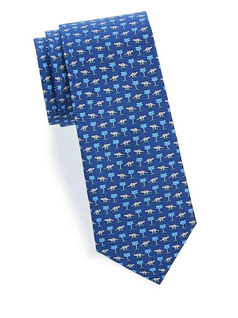 Palm-Tree Silk Tie