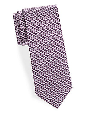 Ladybug-Print Silk Tie