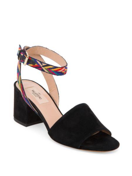 Danica Suede Block Heel Mules by Splendid