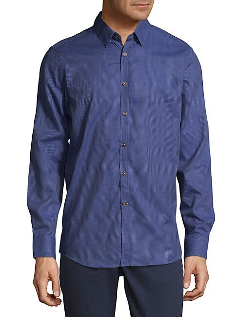 Small Check Button-Down Shirt