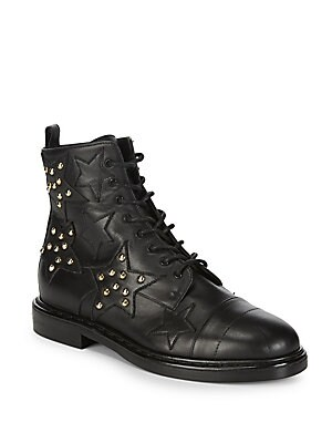 Star Stud Leather Boots