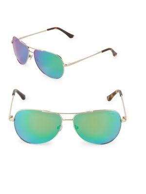 REVO 59Mm Round Aviator Sunglasses in Gold